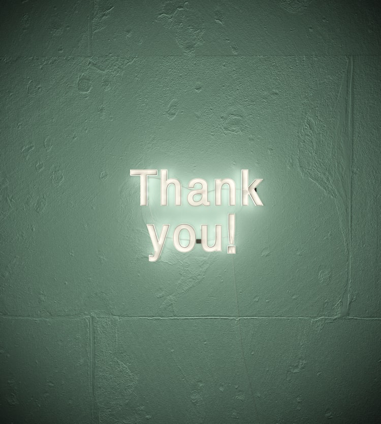 A simple 'thank you' for success